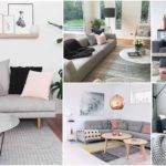 Grey Pink Living Room Peenmedia