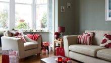 Grey Red Festive Living Room Housetohome