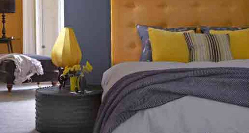 Grey White Yellow Bedroom Decobizz