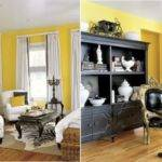 Grey White Yellow Living Room Ideas