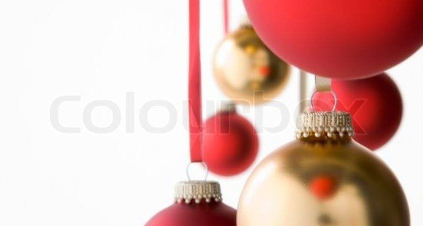 Group Red Gold Christmas Decorations