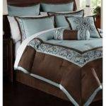 Hallmart Rosenthal Piece Queen Comforter Set Blue Brown