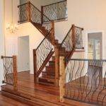 Hand Crafted Bent Iron Art Railing Cam Harris