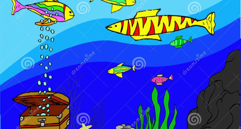 Hand Draw Sketch Various Fish Aquarium Vector