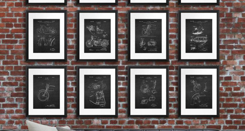 Harley Davidson Home Decor Wall Art Patent Gnosiscollageart