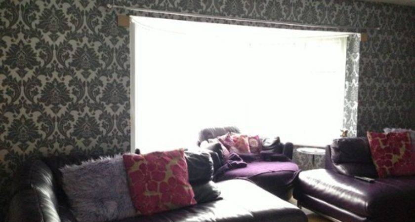 Have Grey Silver Damask Plum Leather Sofas