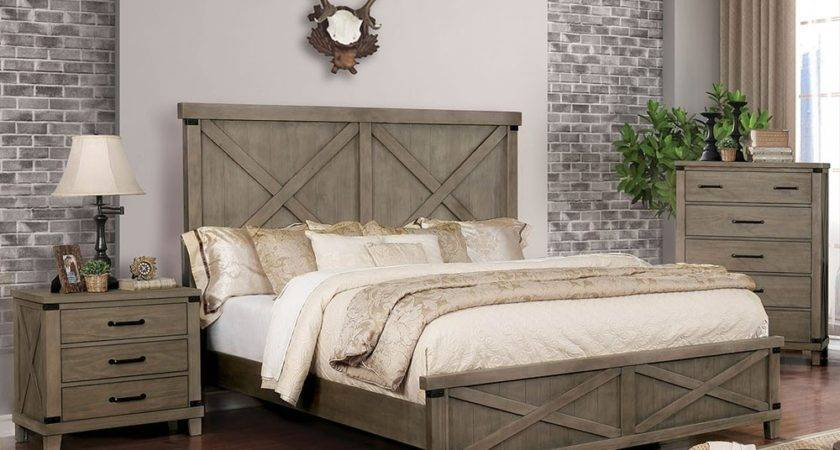Hennessy Gray Finish Industrial Bedroom Furniture