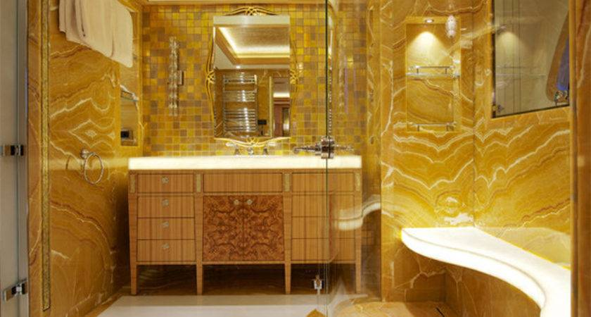 Here Ideas Add Gold Your Bathroom Home