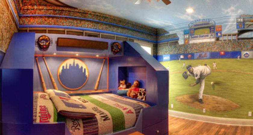 Home Run Theme Bed Mural Custom Design Services
