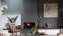 House Tour Gray Accent Wall Simple Fireplace