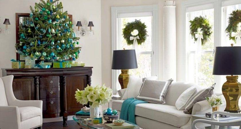 Ideas Decorating Living Room Christmas