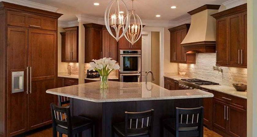 Ideas Kitchen Countertop Chandeliers Decorating