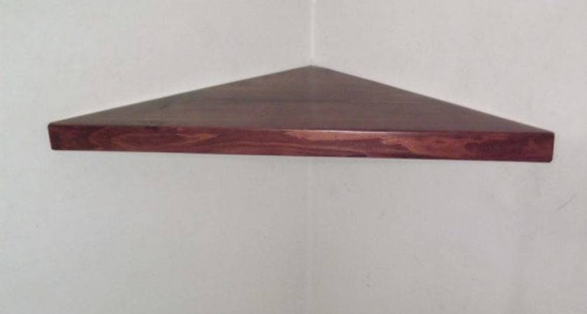 Inch Floating Corner Shelf Black Cherry