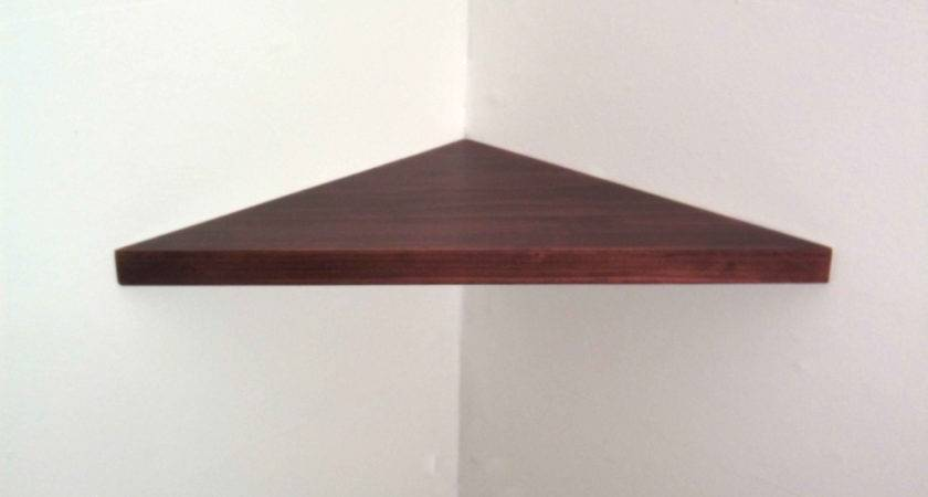 Inch Floating Corner Shelf Thick Black Cherry