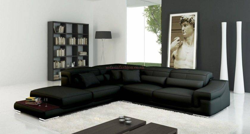 Incredible Large Black Leather Corner Sofa Buildsimplehome