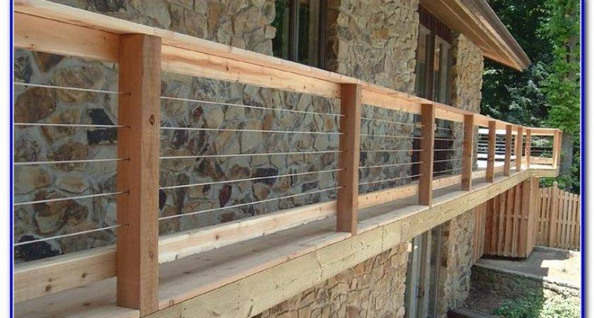 Inexpensive Deck Railing Ideas Decks Home Decorating