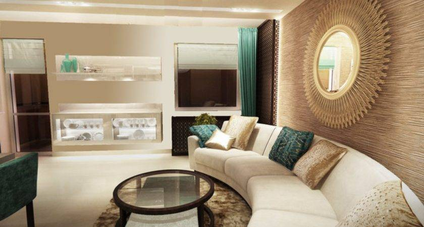 Inspirational Room Ideas Turquoise Beige Living
