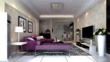 Inspiring Purple Living Room Design Furniture Ideas