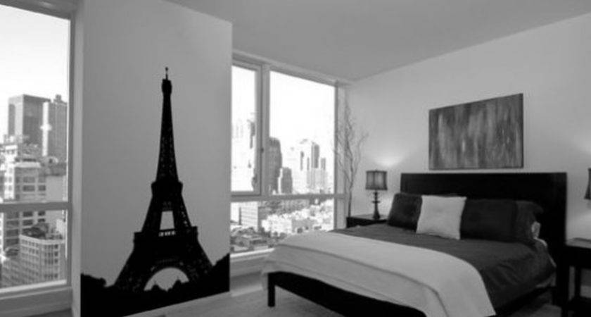 Inspiring Small Black White Room Decor Feat Paris