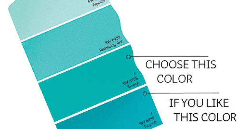 Inspiring Teal Blue Paint Color Swatches