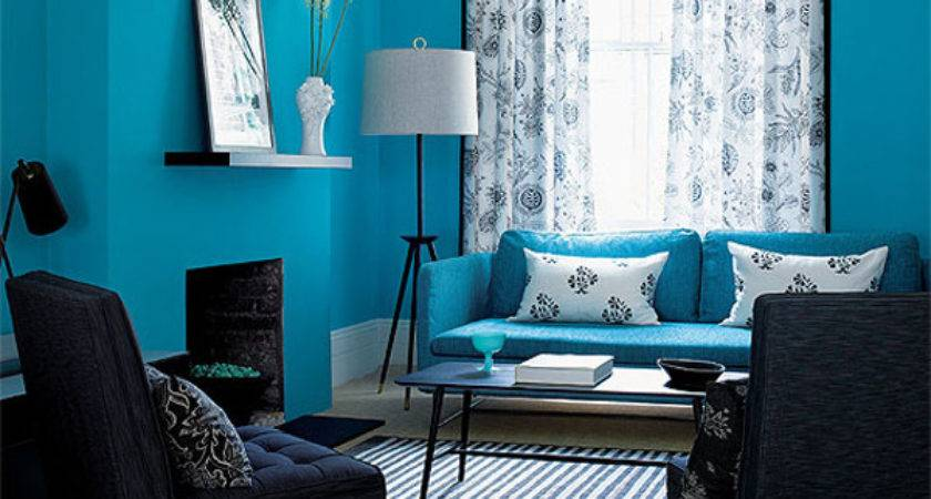 Interesting Blue Color Schemes Living Room