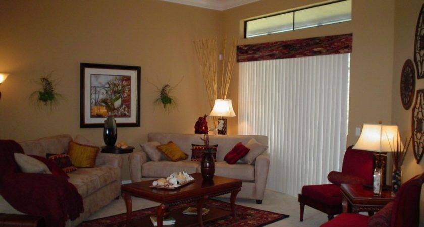 Interior Comely Red Brown Living Room