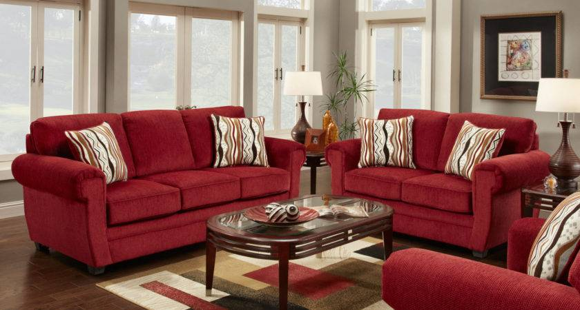 Interior Designing Styles Contemporary Red Living