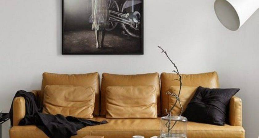 Interior Designs Tan Leather Sofa