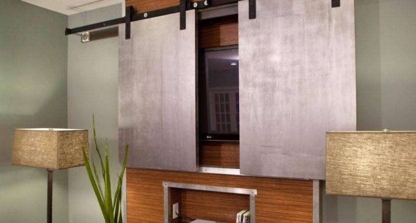 Interior Wall Mounted Flat Screen Cabinet Build