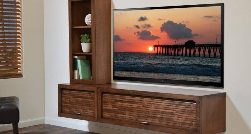 Interior Wall Mounted Flat Screen Cabinet Copper