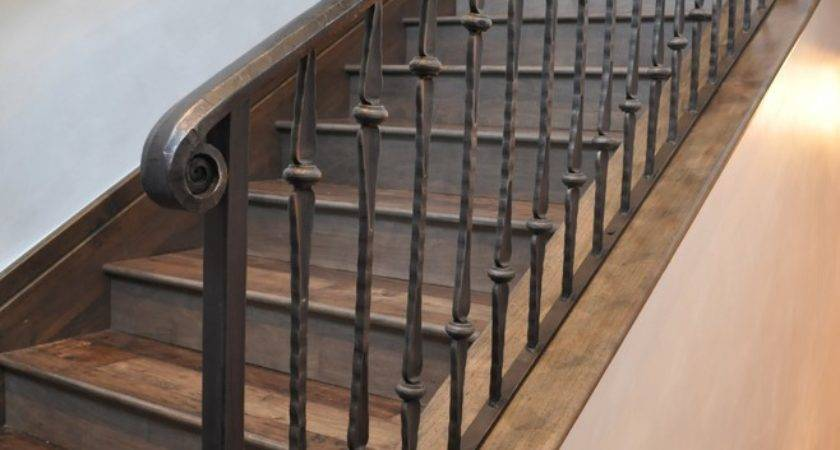 Iron Stair Railing Staircase Traditional