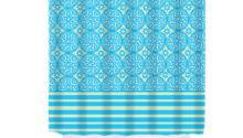 Items Similar Shower Curtain Blue Turquoise Beige