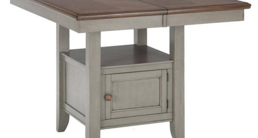 Jofran Counter Height Storage Dining Table Pottersville