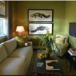 Joy Decor Decorate Around Beige Sofa Green Walls