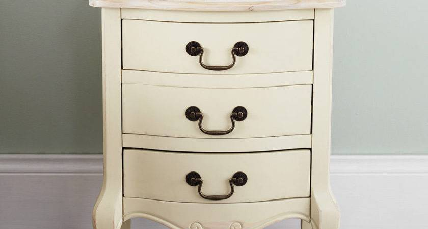 Juliette Shabby Chic Champagne Bedside Table Drawer