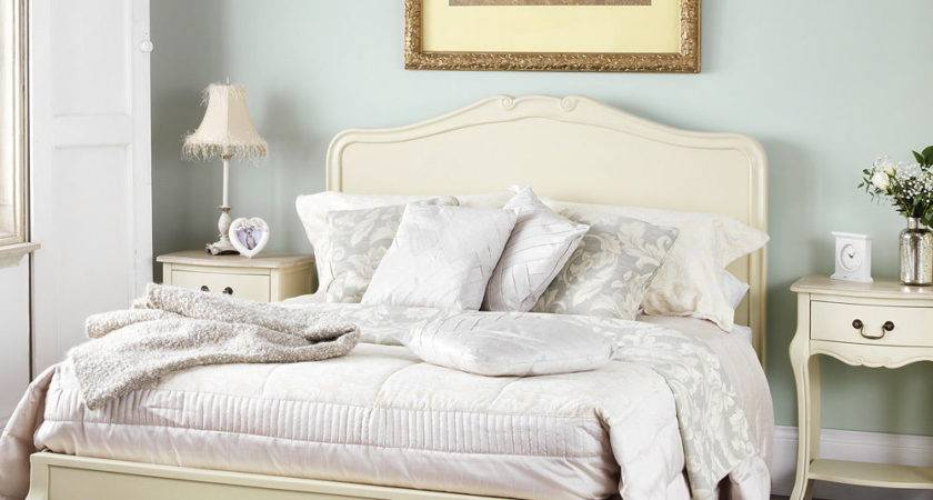 Juliette Shabby Chic Champagne Double Bed Stunning Cream
