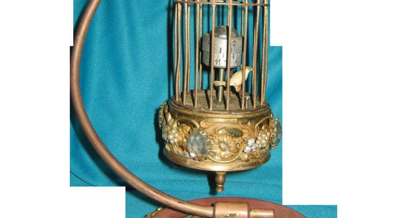 Kaiser Bird Cage Clock Stand Germany Jeweled