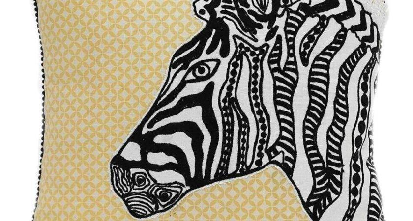 Karma Living Zebra Embroidered Pillow Maryland