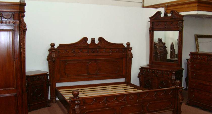 King Lion Bedroom Set Reproduction Antique Burleson