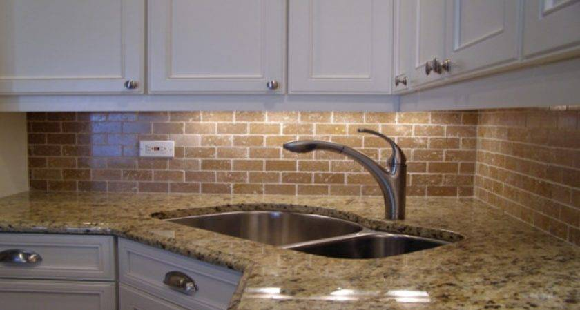 Kitchen Brick Backsplash White