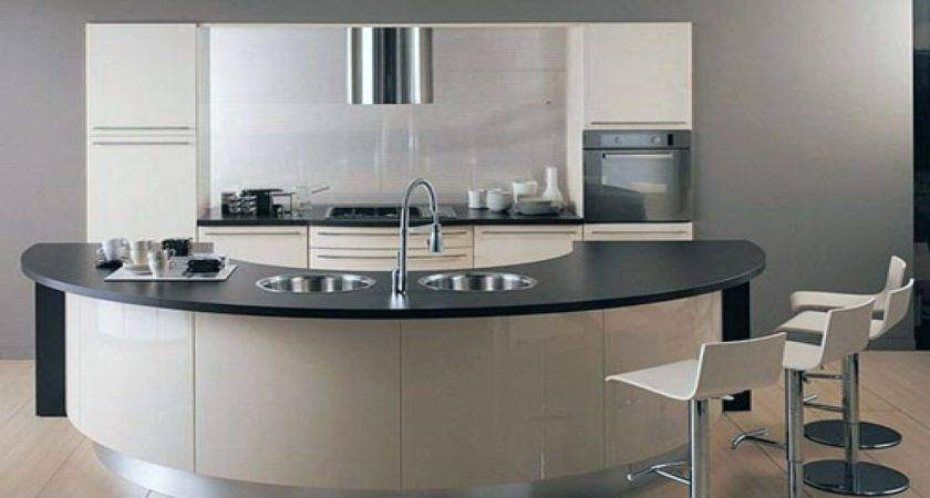 Kitchen Curved Island Decorations