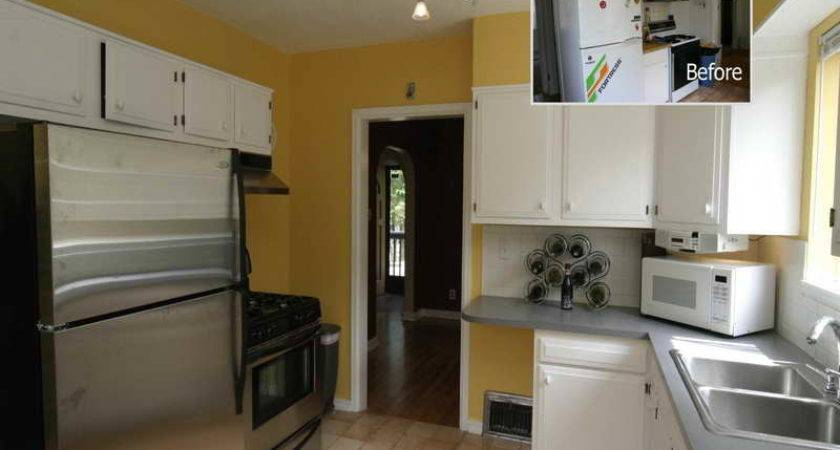 Kitchen Small Galley Makeover Yellow Design