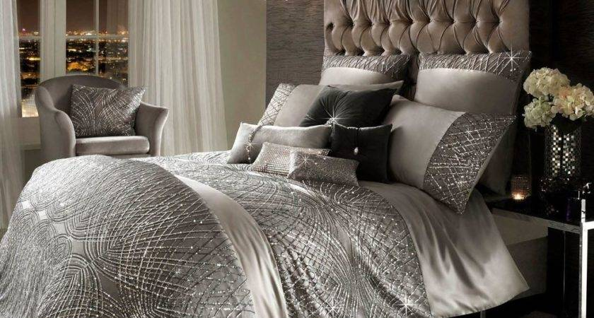 Kylie Minogue Esta Sequin Satin Silver King Cotton