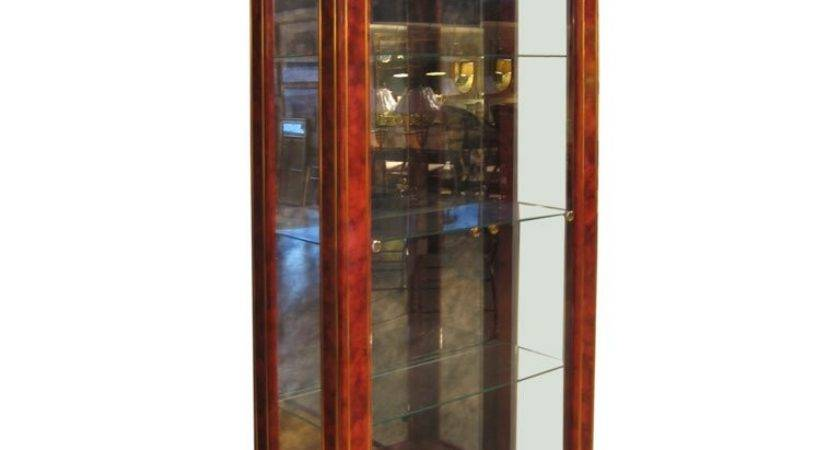 Lacquered Wood Glass Display Cabinet Mastercraft