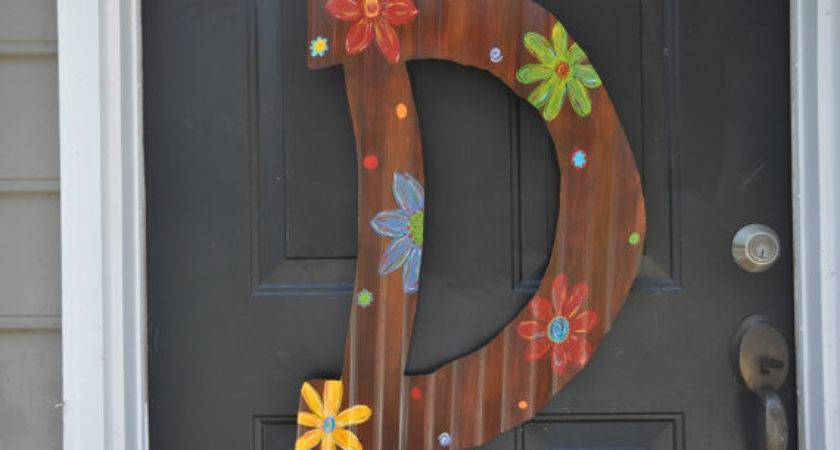Large Custom Hand Painted Corrugated Metal Letters Hang
