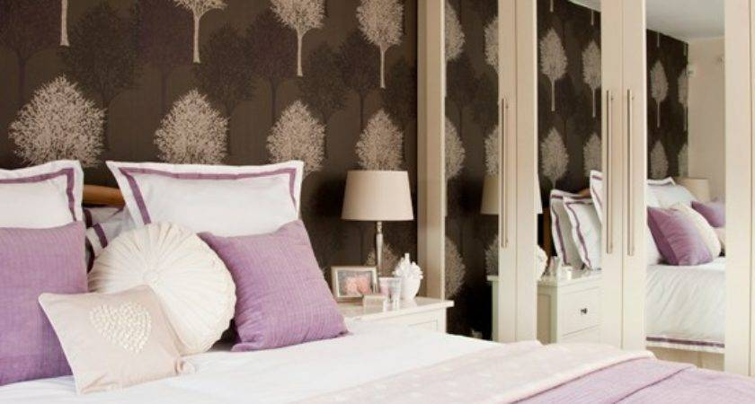 Lavender Bedroom Feature Wall Decorating
