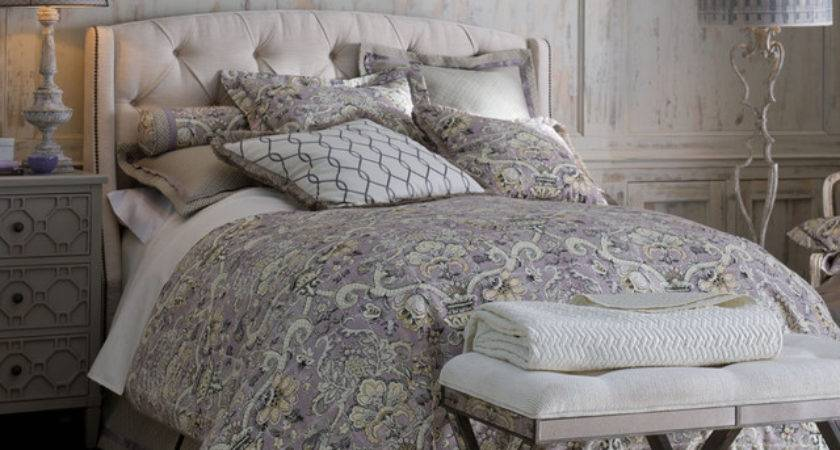 Lavender Gray Bedroom Traditional Horchow