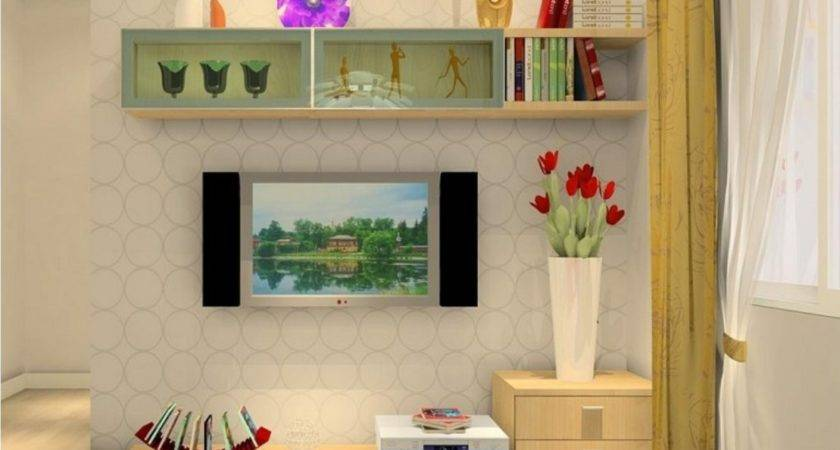 Lavish Modern White Lacquer Wooden Living Room Wall Units