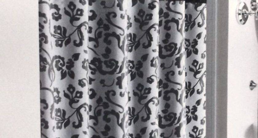 Layers Black Beige Print Overlay Fabric Shower