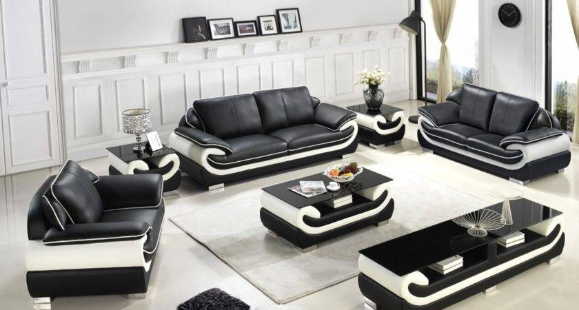 Learn All Black White Sofa Set Chinese